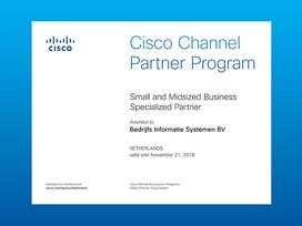 Small and Midsize Business Specialization van Cisco opnieuw verlengd